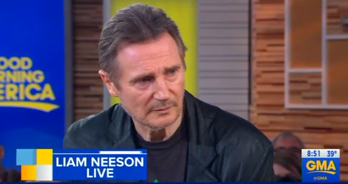 Liam Neeson appearing on Good Morning America. Credit: ABC/Good Morning America