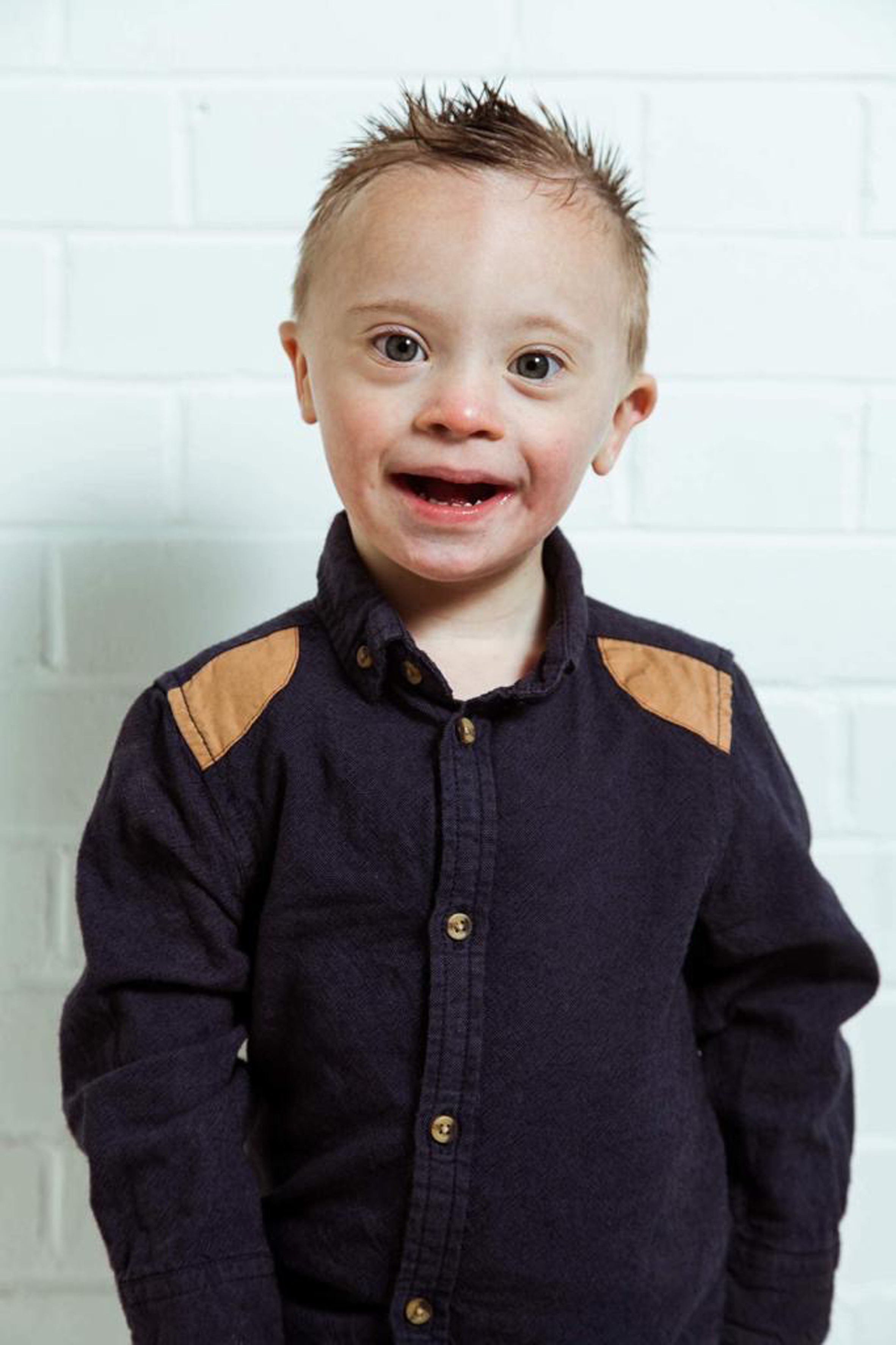 Smiley Riley has already featured in shoots for Mother Care and also Little Bird by Jools Oliver. Credit: Caters