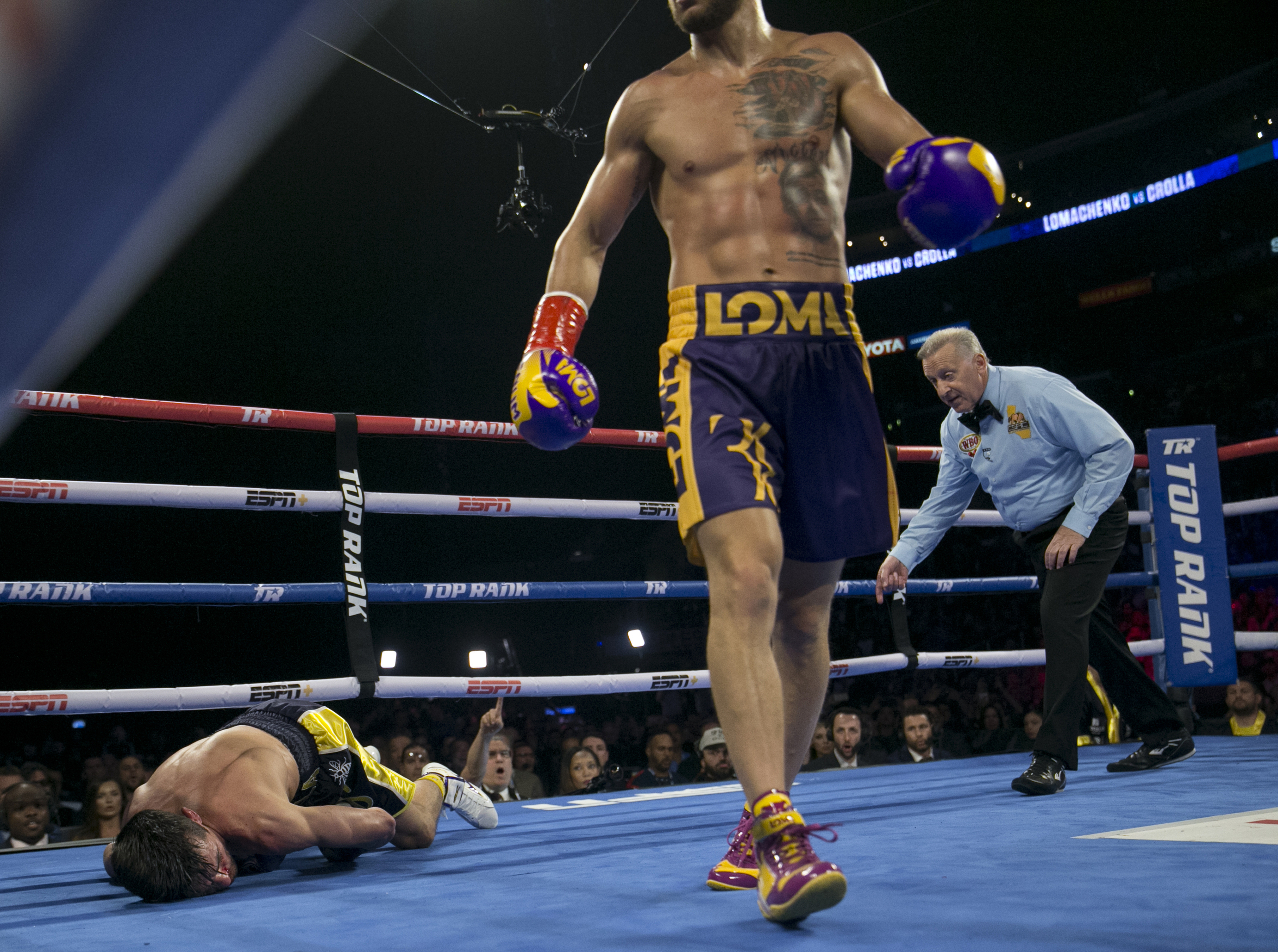 Crolla was laid out by Lomachenko in the fourth round. Image: PA Images