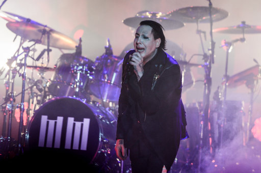 Marilyn Manson collapses onstage after four songs