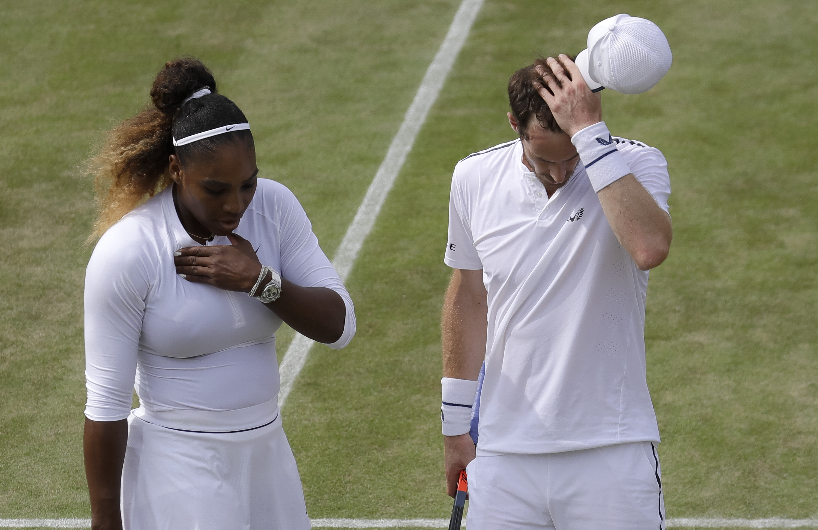 Williams and Murray are out of the mixed doubles competition. Credit: PA