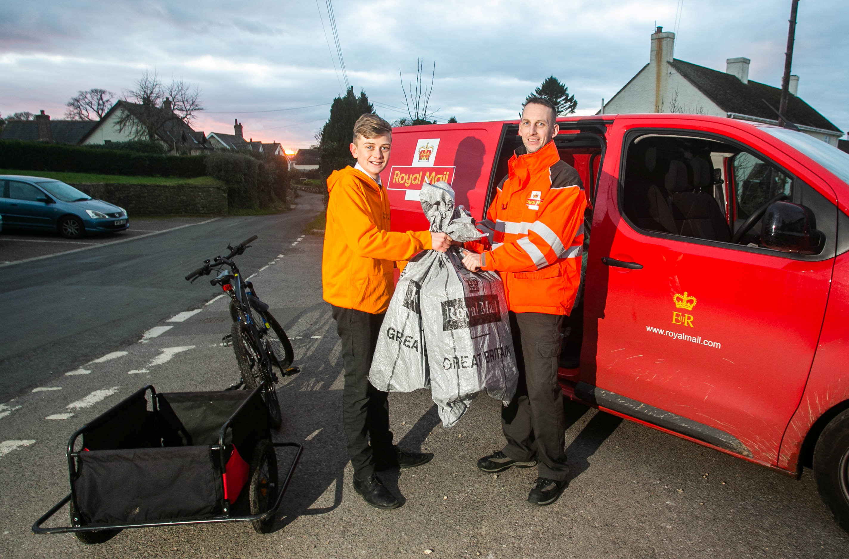 Tommy even goes to meet to postman to deliver parcels. Credit: SWNS