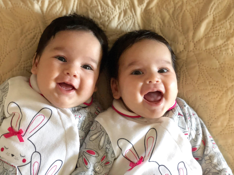 Marita and Anita seem chuffed with their likeness. Credit: Elena Tsiklauri