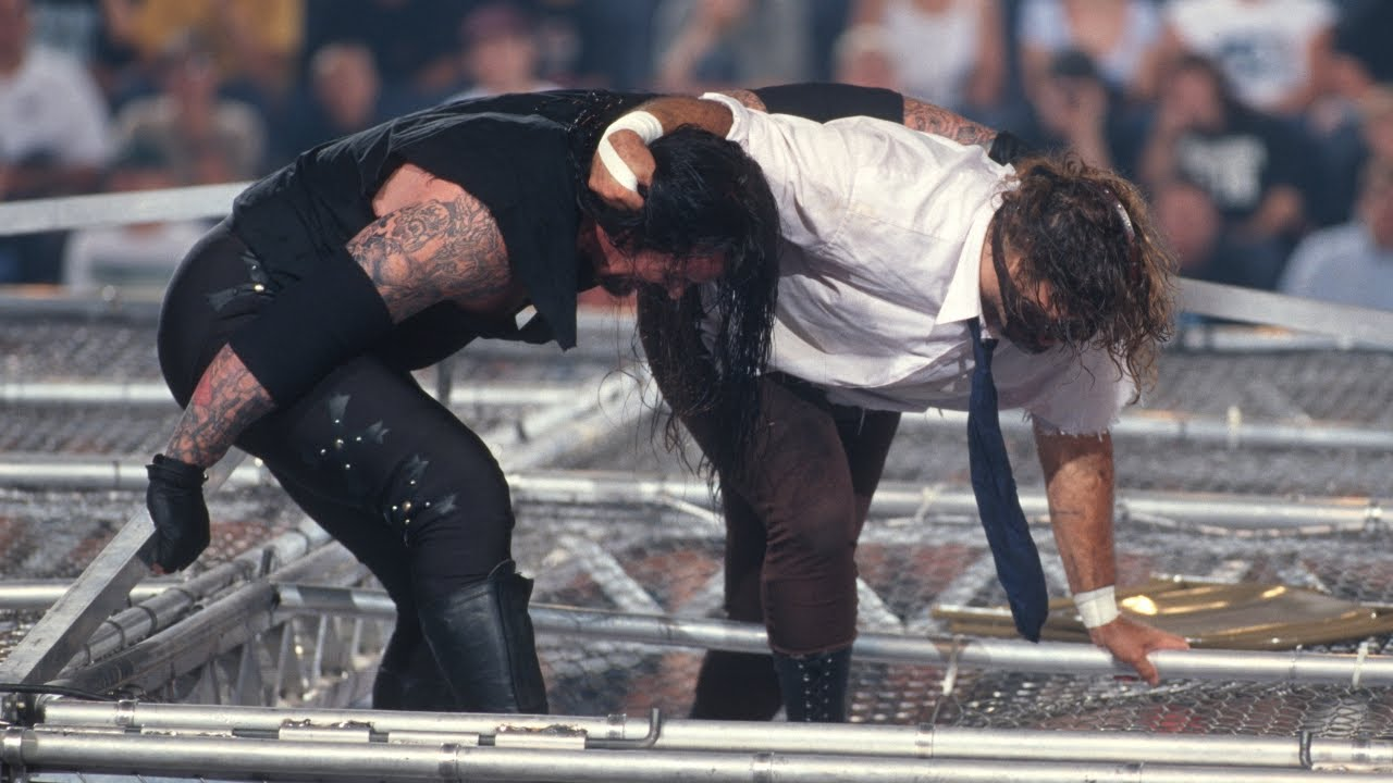 The 'Attitude Era' saw more extreme stunts. Credit: WWE
