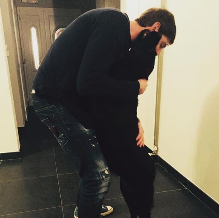Emiliano Sala and his dog, Nala. Credit: Emiliano Sala/Instagram