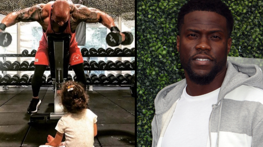 Dwayne Johnson Brutally Trolls Kevin Hart While Working Out With Daughter