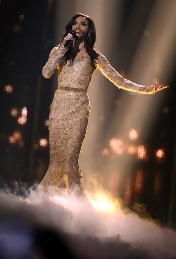 Conchita Wurst at the Eurovision Song Contest 2014 in Copenhagen. Credit: PA