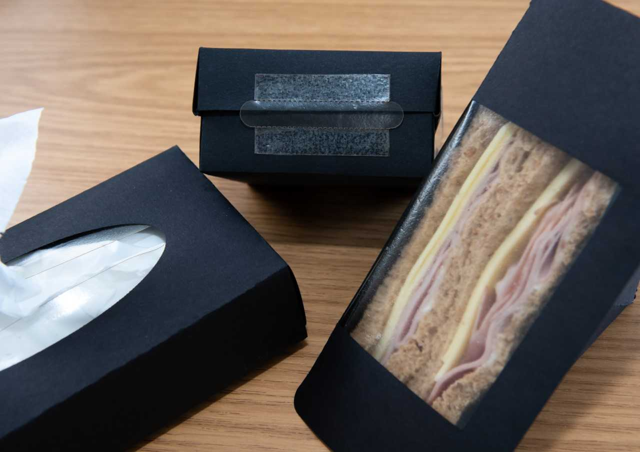 Marinatex could be used as a film for sandwich and tissue boxes. Credit: University of Sussex