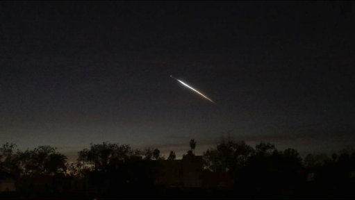 UFO sighted over the skies of Los Angeles freaks the citizens