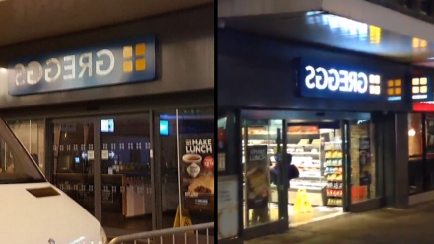 This Greggs Shop Spelled Its Sign Backwards For Brilliant Reason