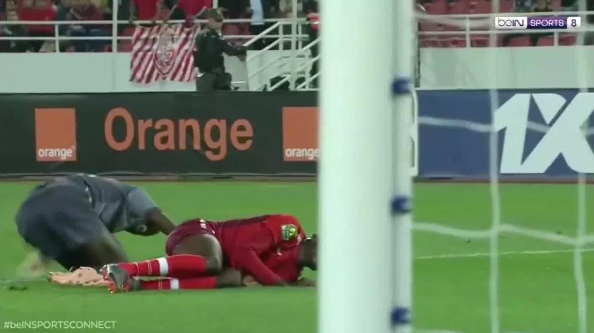 N'Diaye suffered two broken legs. Credit: BeInSports
