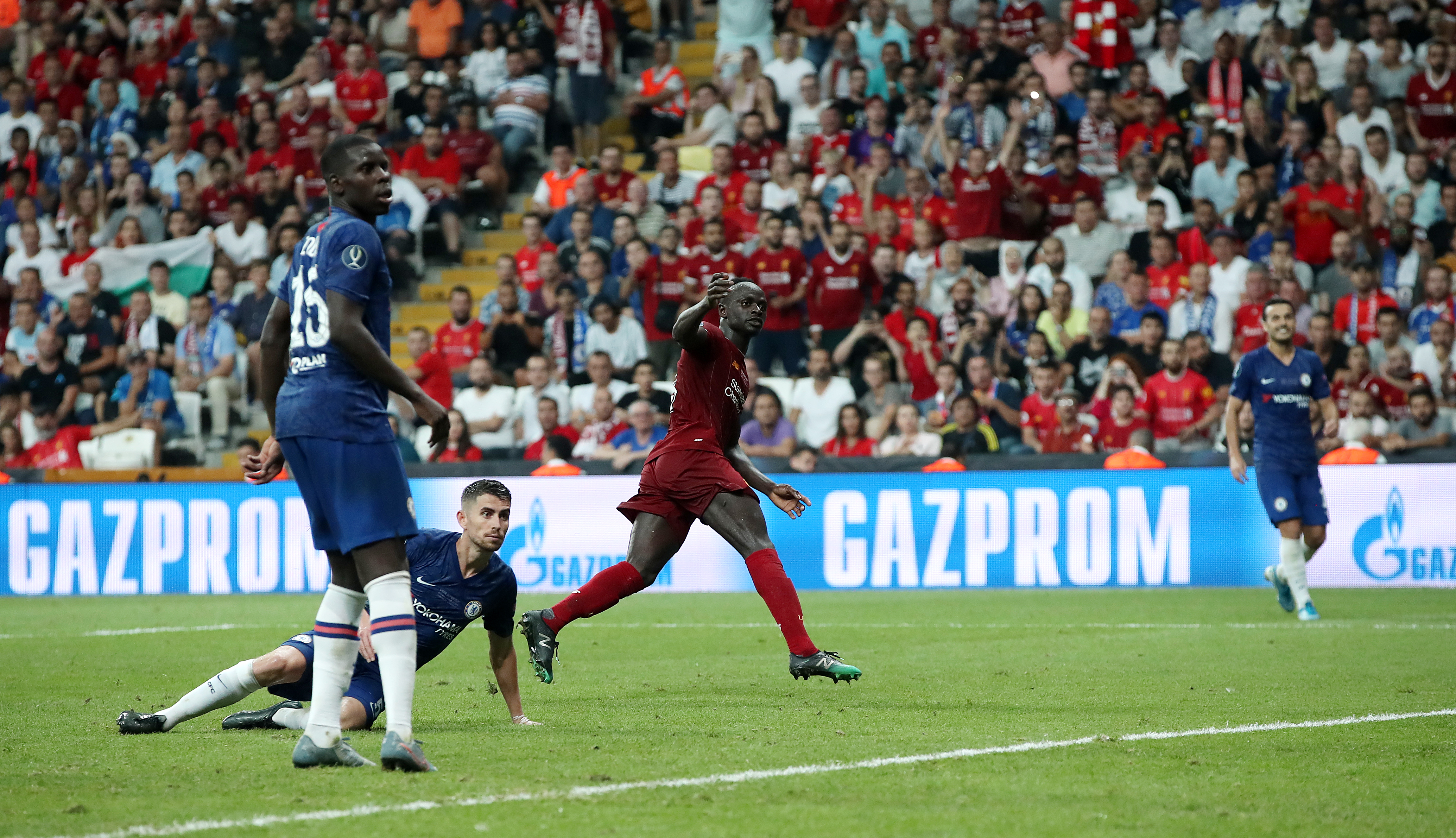 Sadio Mane rattled in his second early in extra-time