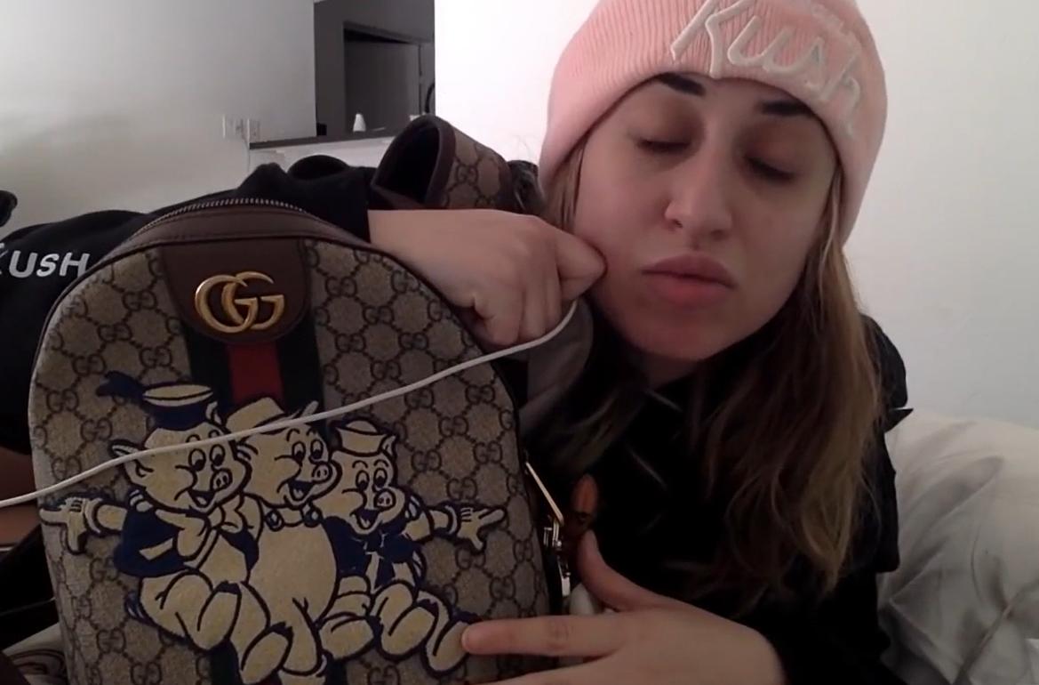 The Instagrammer showed off her expensive bag. Credit: YouTube/Jessy Taylor