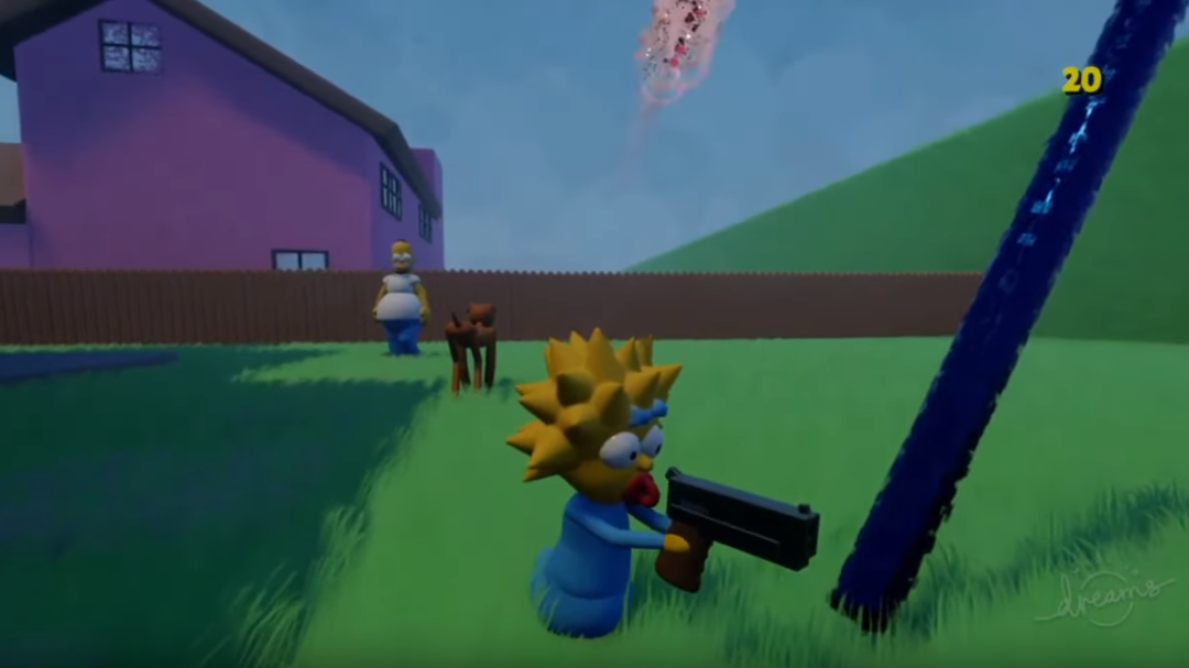 The Simpsons Hit Run Has Been Remade In Playstation 4 S Dreams Ladbible