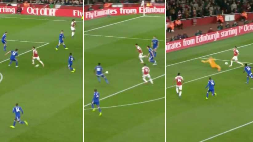 Özil, Lacazette And Aubameyang Combine Perfectly To Score Stunning Team Goal