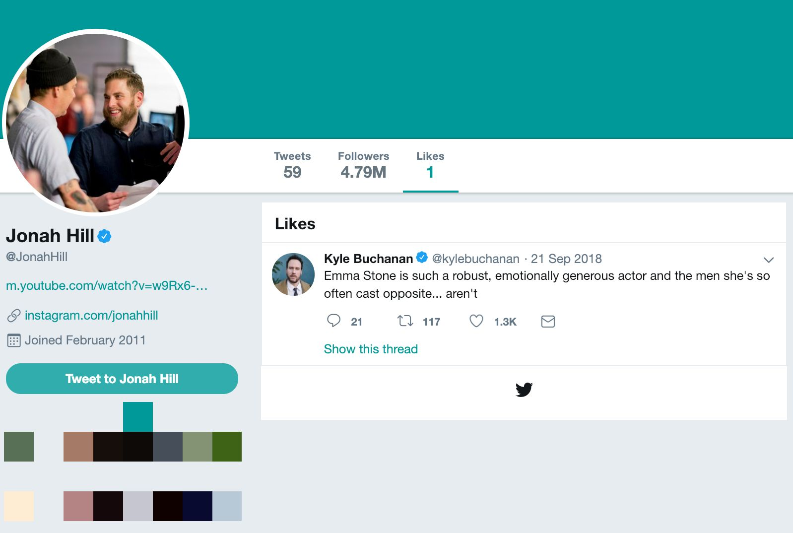 The Only Tweet Jonah Hill Has Ever Liked Is A Hilarious Self-Burn ... dc0982358