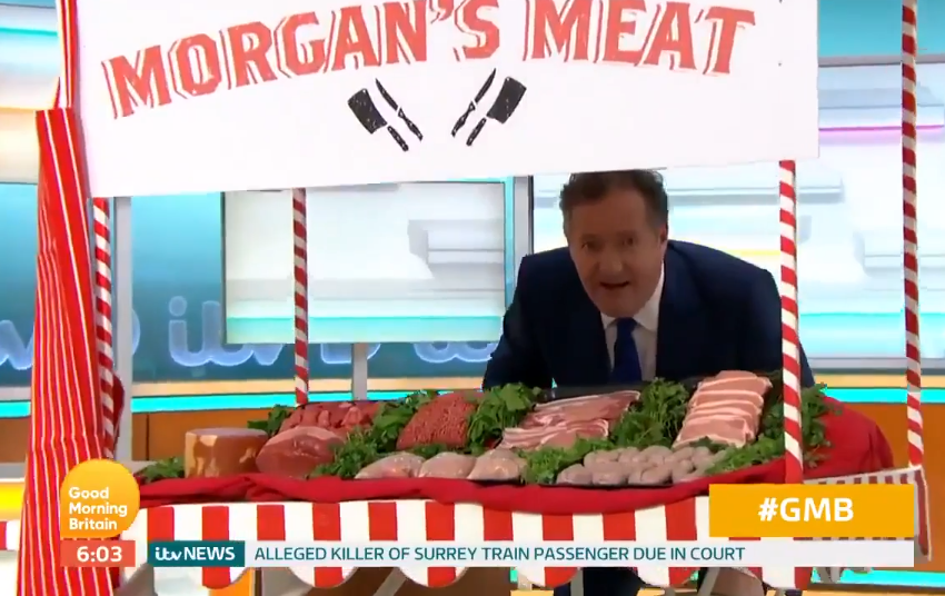 Piers was disgusted with Greggs vegan sausage roll. Credit: Good Morning Britain/ITV