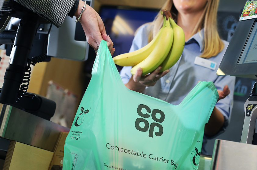 Co-op's new compostable bags. Credit: Co-op