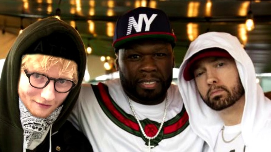 Ed Sheeran, Eminem And 50 Cent Hop On