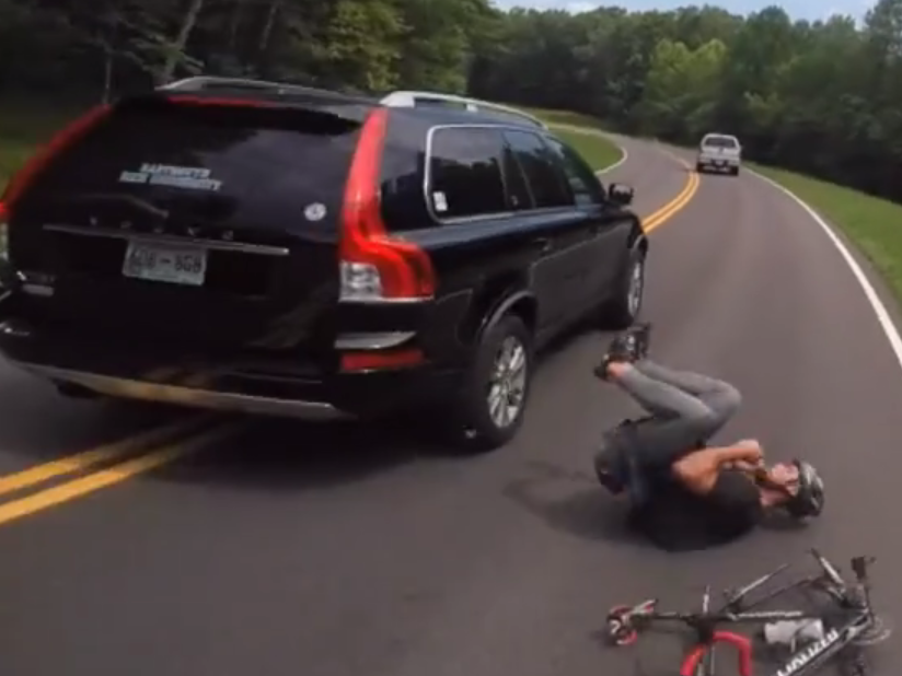 Cyclist knocked off bike