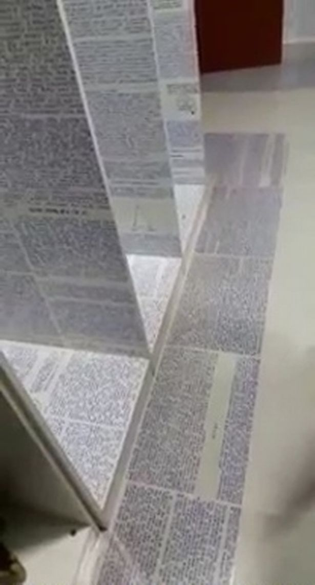 His room was covered in pages filled with a mysterious code. Credit: Guilherme Kaminski dos Santos/Youtube