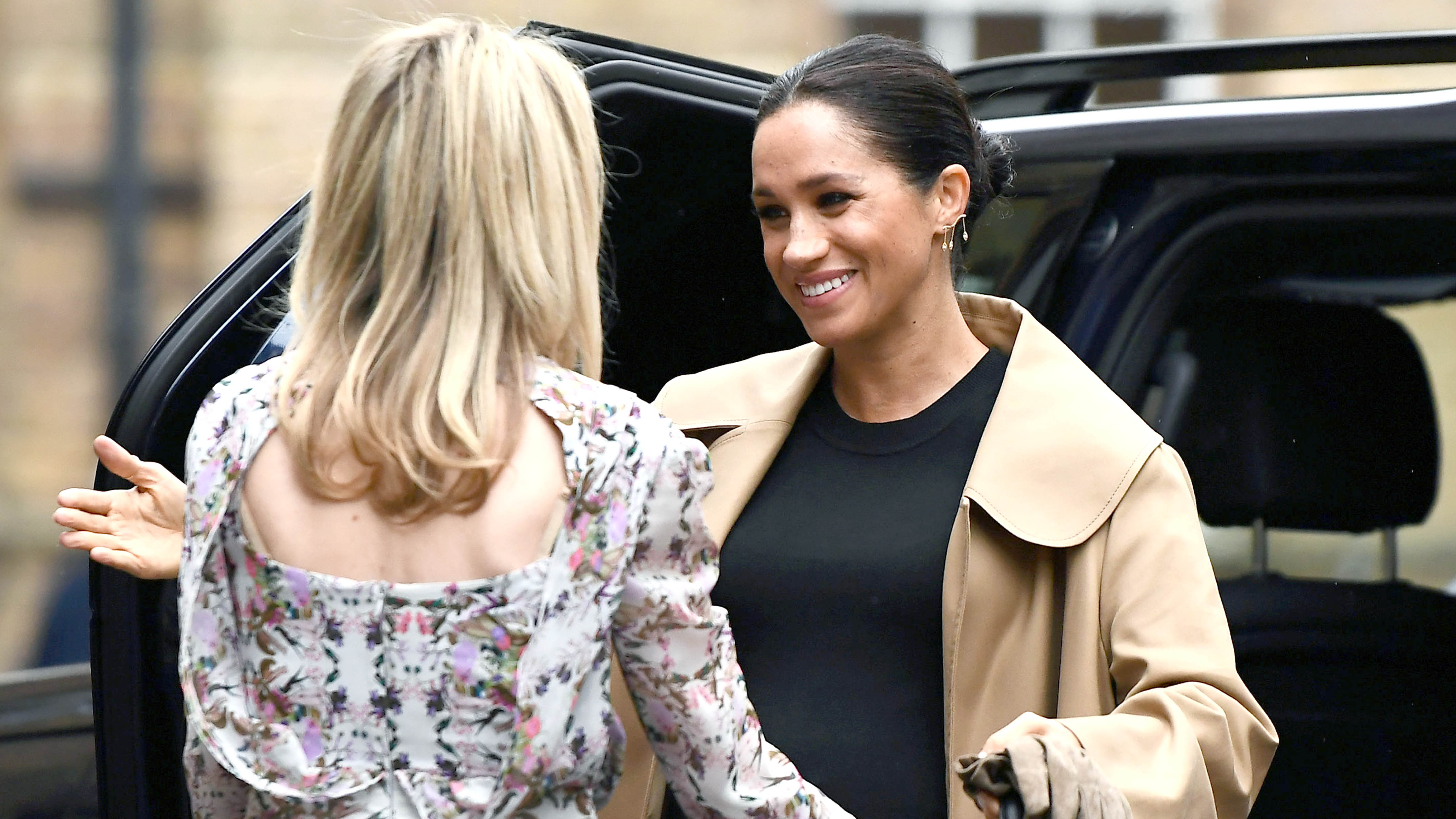 Meghan Markle Spotted Out And About Celebrating Patronages Given By The Queen