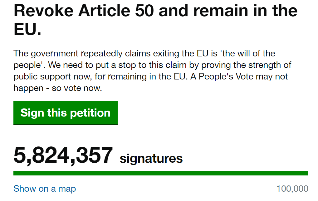 Credit: UK Government Petitions