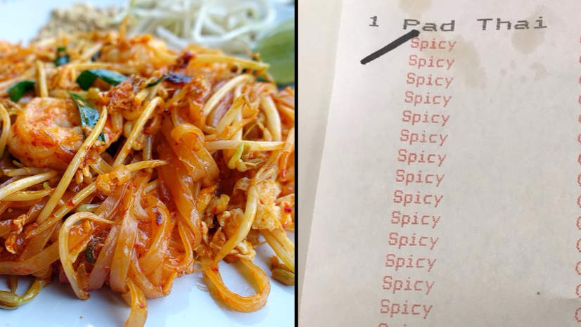 Man Asks For Extra Spicy Pad Thai And Server Wants Him To 'Regret Being Born'