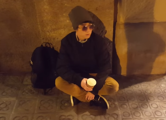 He uploaded another video of him begging on the streets for 48 hours. Credit: ReSet/YouTube