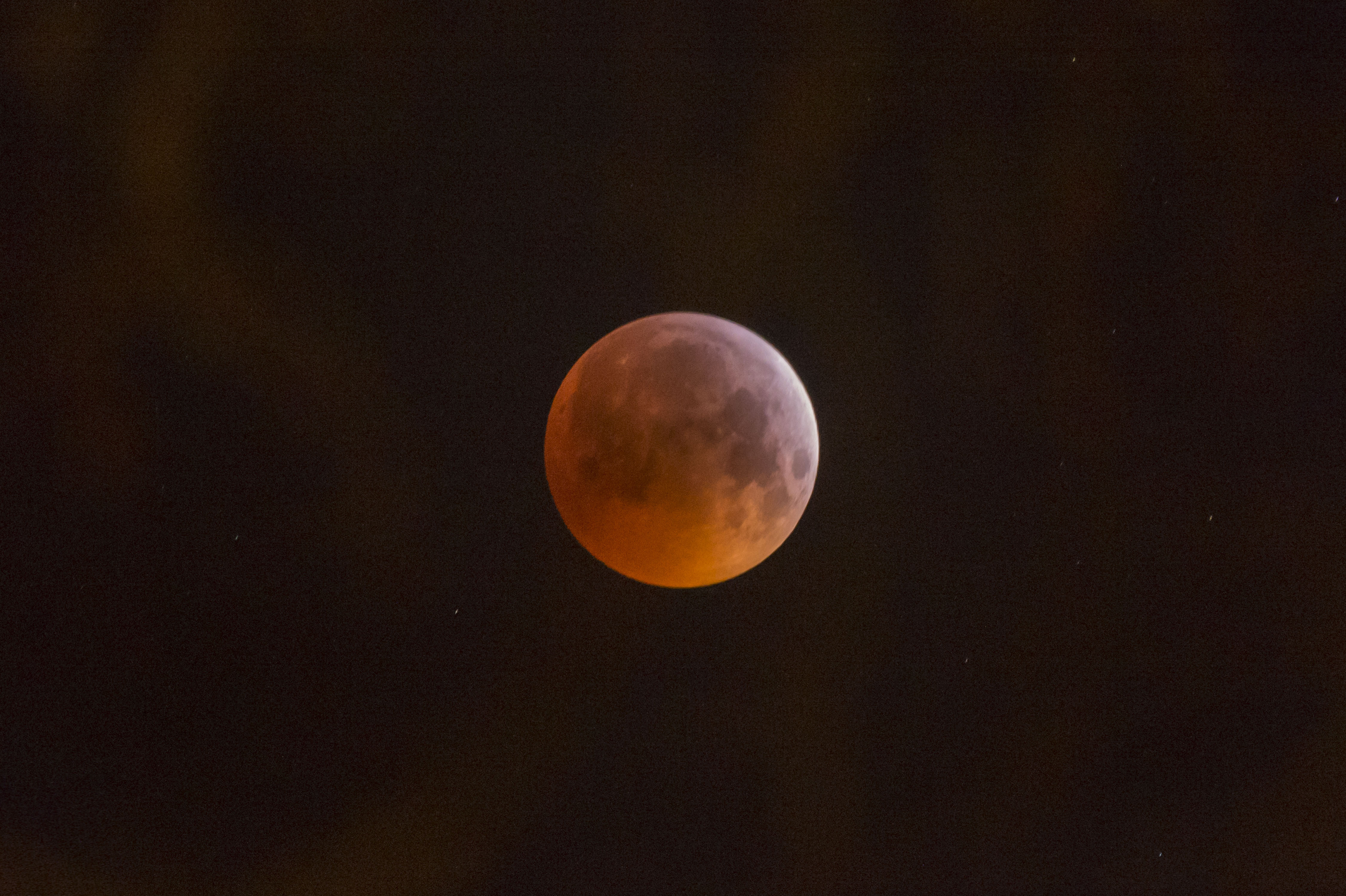 A 'Super Blood Wolf Moon'. Credit: PA