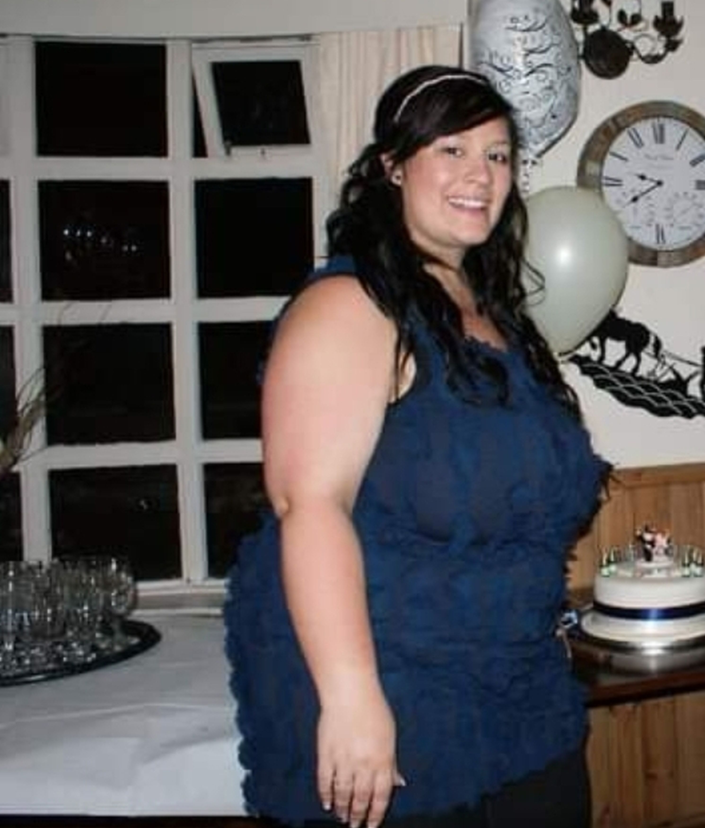 At her biggest, Kym weighed more than 21st. Credit: Kennedy News