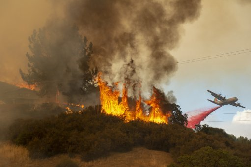 Air Tanker Deployed to Contain Devastating Mendocino Complex Wildfires
