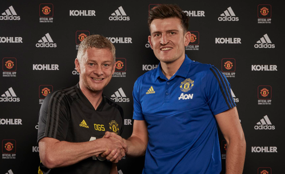 United will be hoping Maguire's arrival puts them in the top four. Image: ManUtd.com