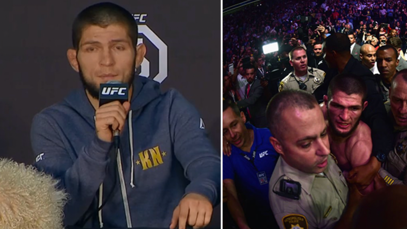 Khabib Nurmagomedov Apologises During Post Fight Press Conference