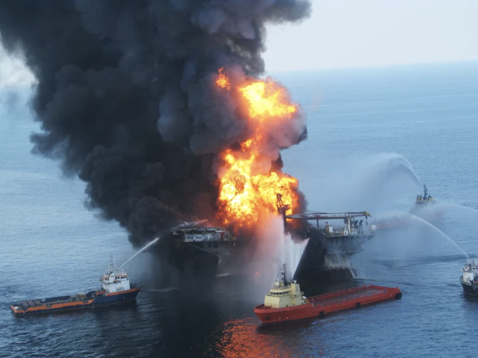 Deepwater Horizon oil rig. Credit: U.S Coast Guard