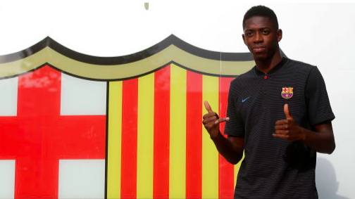 Dembele replaced Neymar and could now be used to bring him back. Image: Barcelona