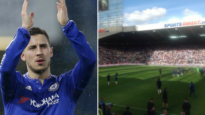 Hazard Blocks Bolting Chelsea Players And Makes Them Say Goodbye To Fans After Newcastle Loss