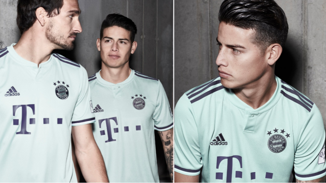 los angeles a36ba 36ac6 Bayern Munich Release New 'Ash Green' 2018/19 Away Kit And ...