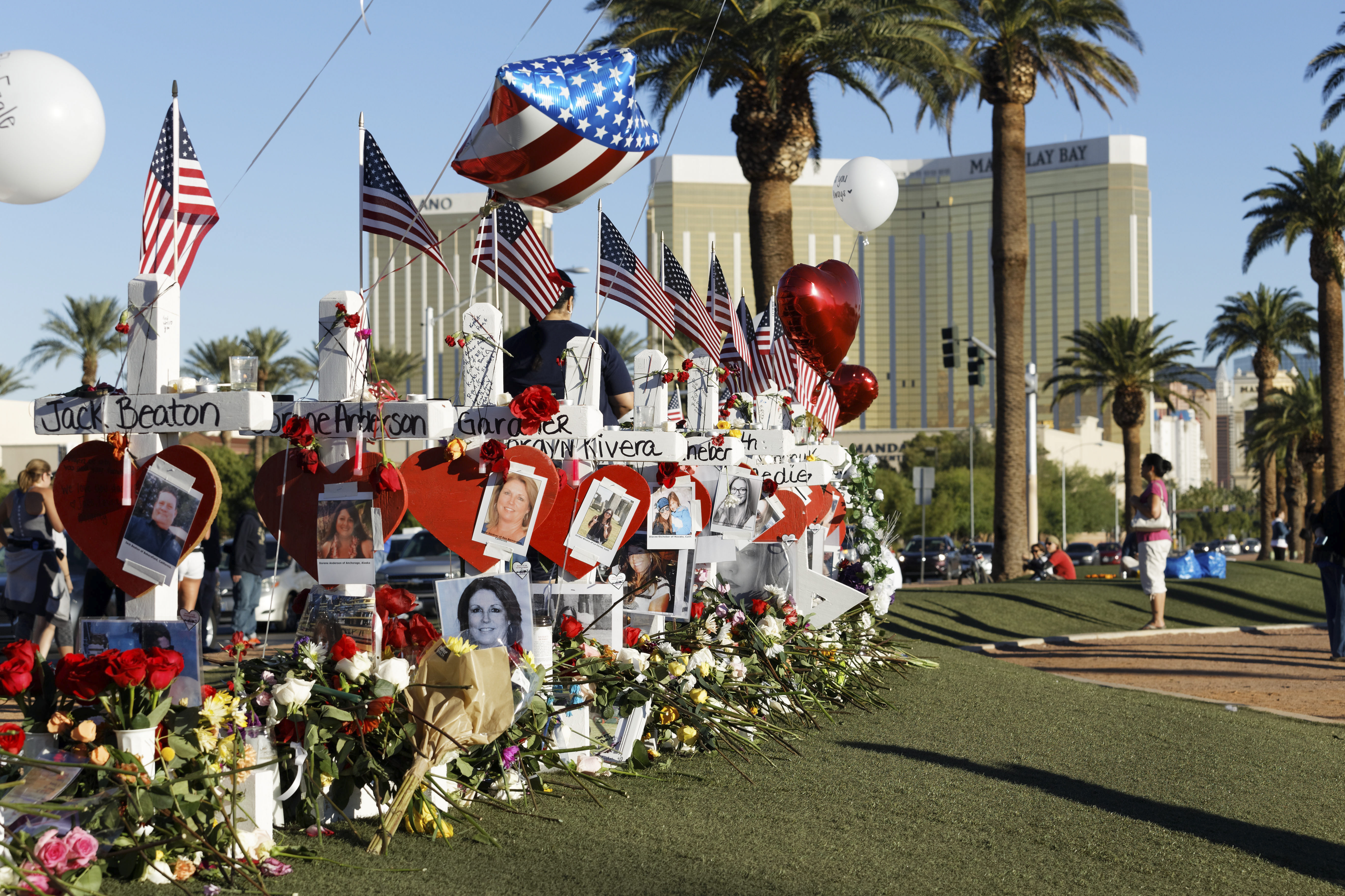 A number of Las Vegas hotels have changed their policies following the shooting last year. Credit: PA