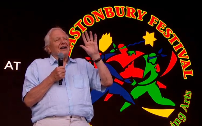 Sir David Attenborough congratulates Glastonbury on reducing plastic pollution