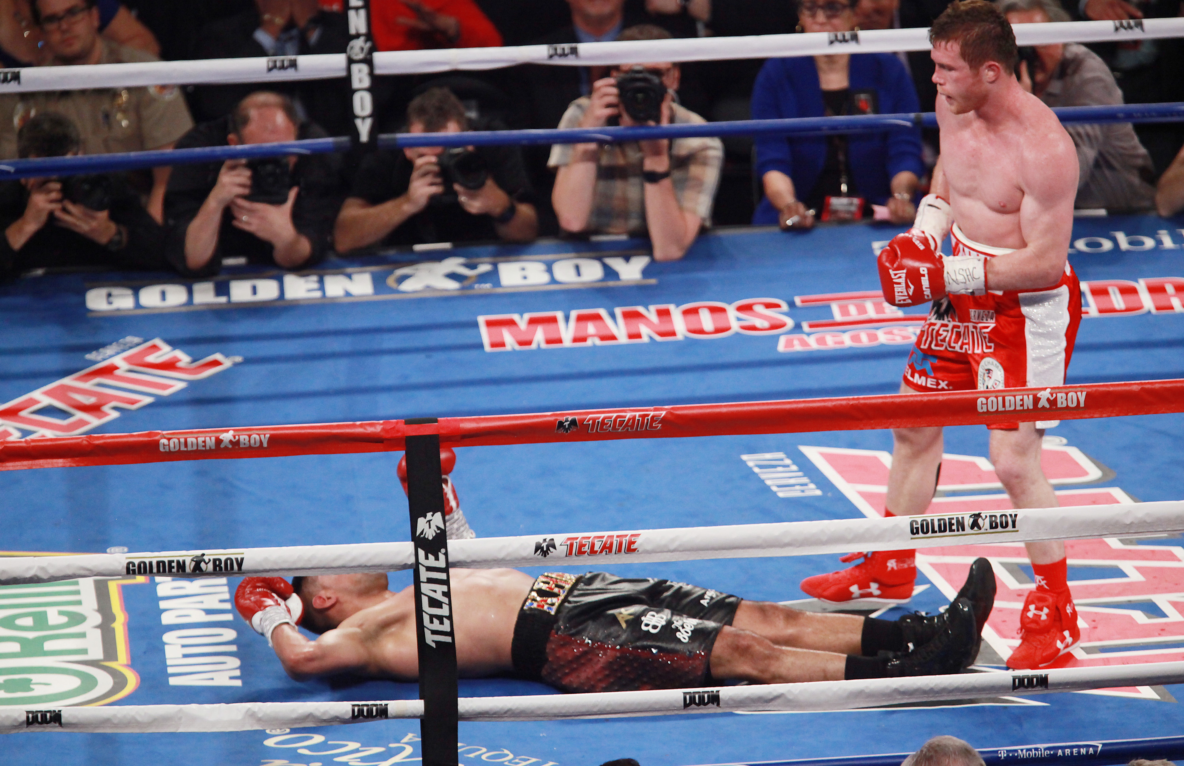Khan's won back to back fights since the loss to Alvarez. Image: PA Images