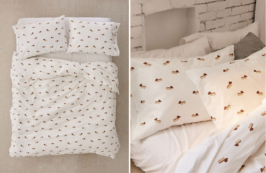This Adorable Bedding From Urban Outfitters Is Covered In Sausage