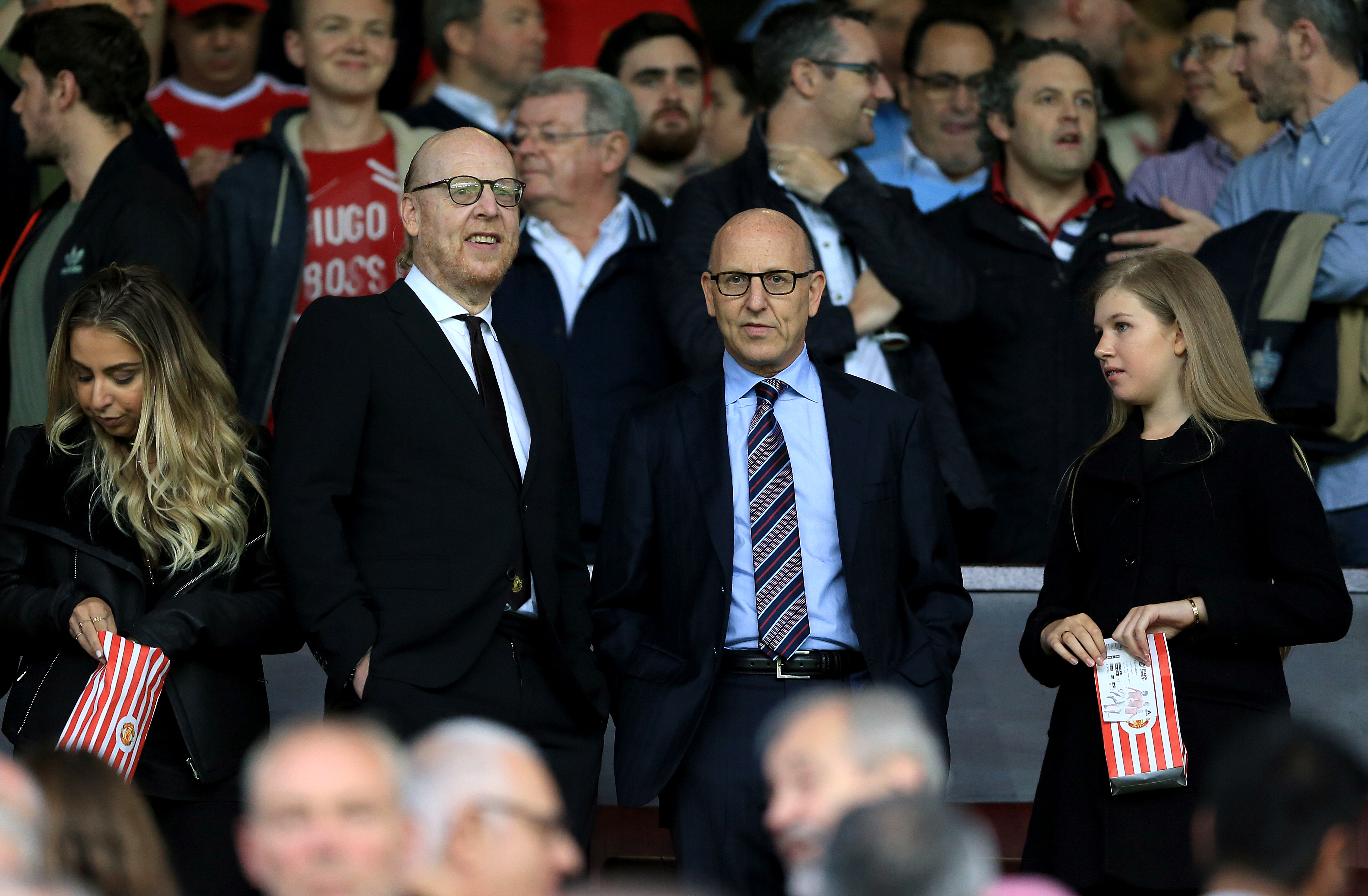 Avram and Joel Glazer in the stands in August 2016. Image: PA Images