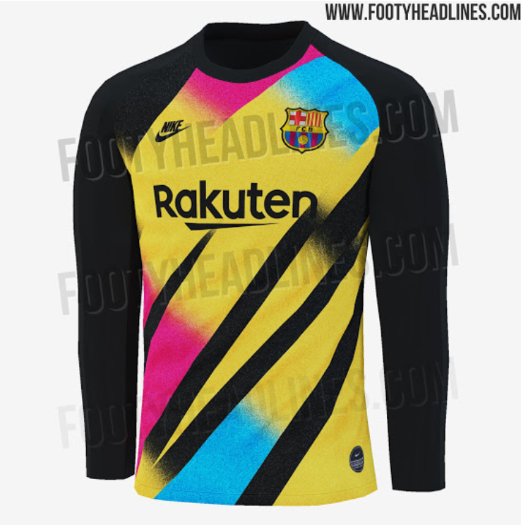 new arrival 354dd 7d143 Barcelona's 2019/20 Third Goalkeeper Kit Is Sure To Split ...