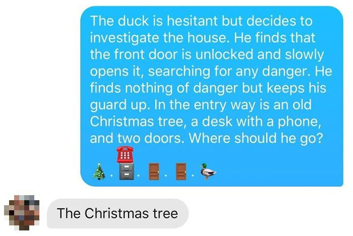 The duck is going into the house now after the Tinder match chooses its fate. Credit: Reddit/u/mattythegee
