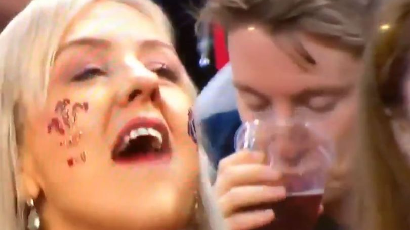 Wales Fan Caught On Camera Drinking His Pint And It's The Best Thing You'll Watch Today