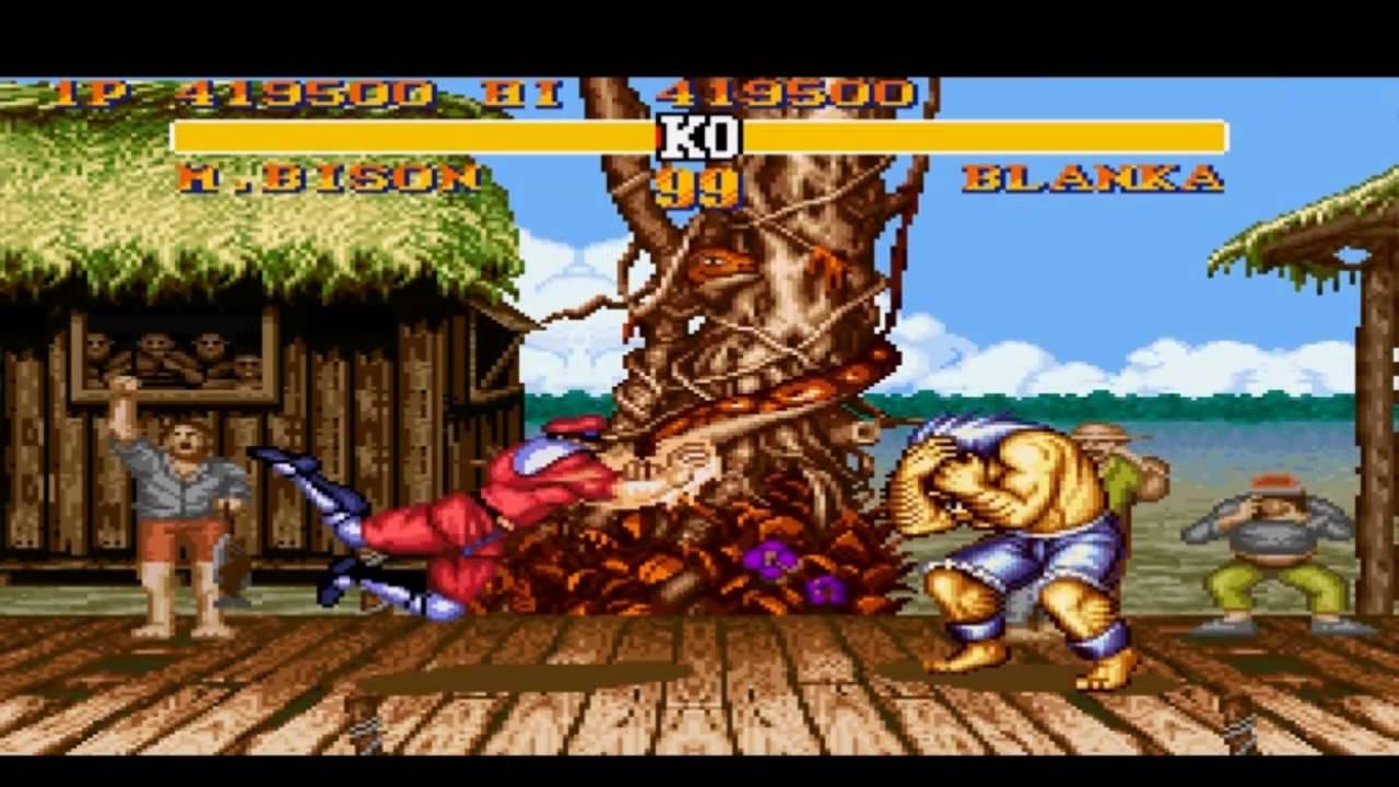 M Bison AKA Dictator battles Blanka in Street Fighter II / Credit: Capcom