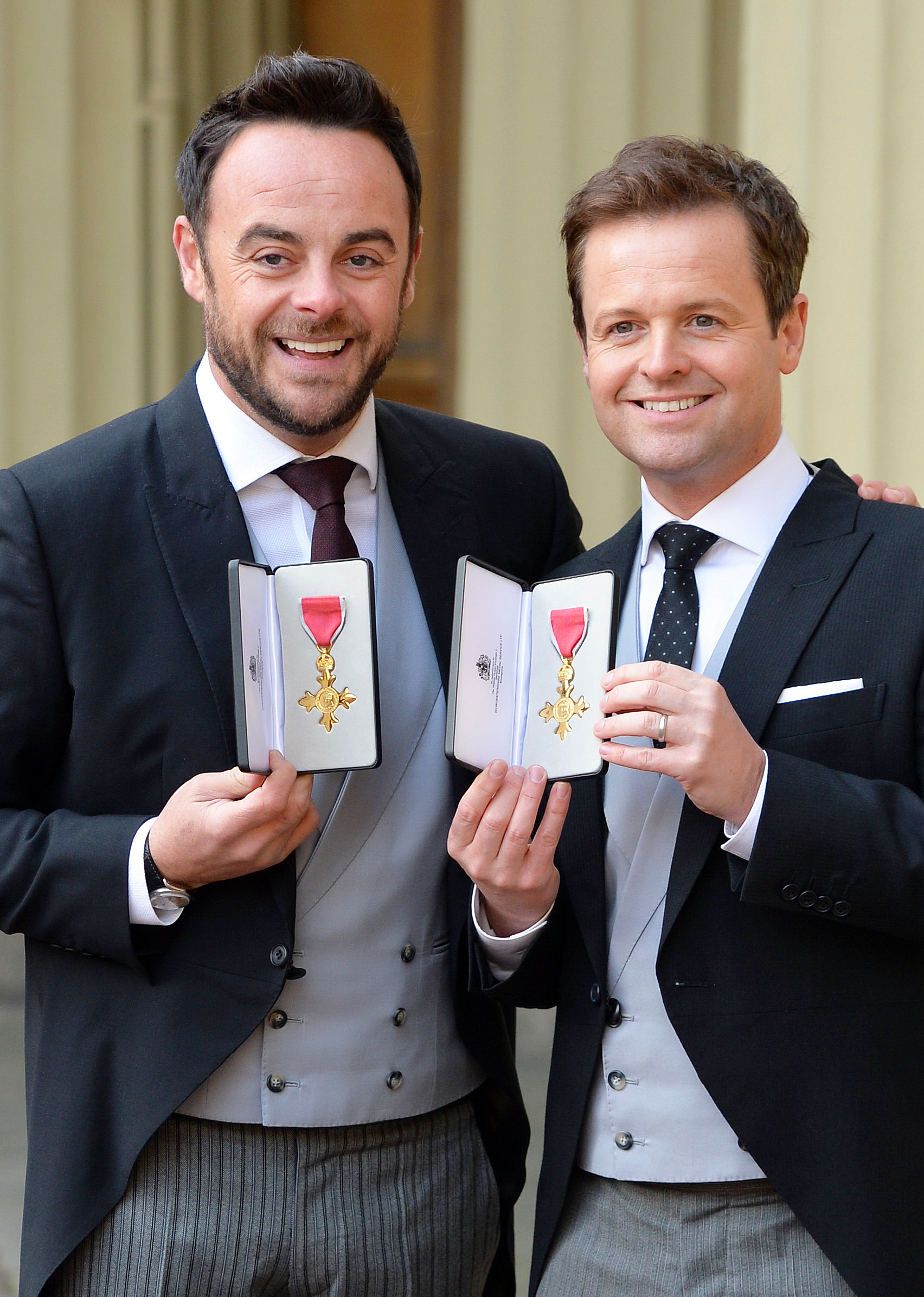 Ant and Dec receiving their OBE