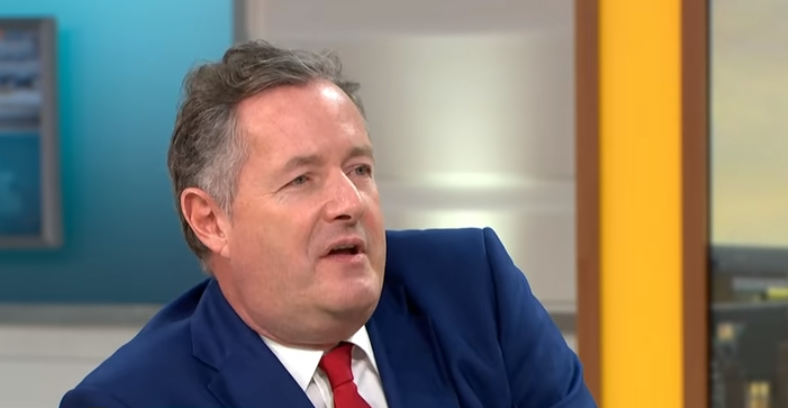 Piers Morgan was less than impressed with the gun tattoo. Credit: ITV/Good Morning Britain