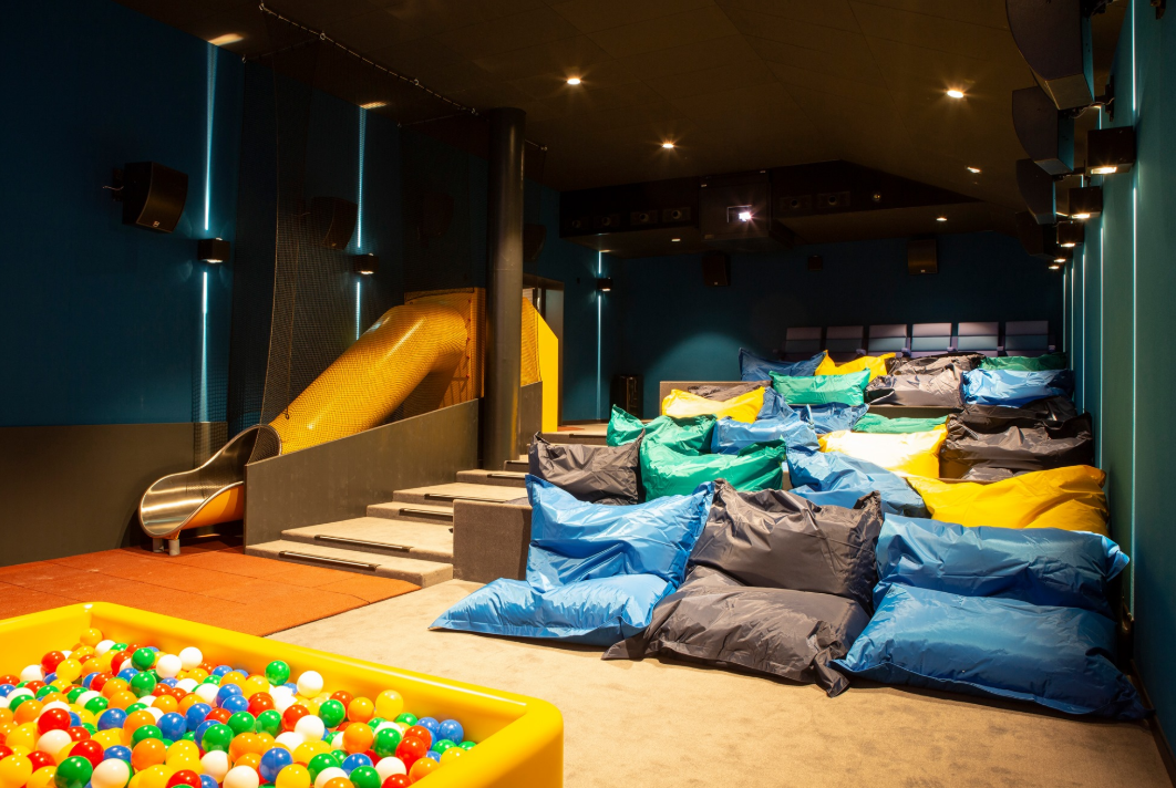 There's also a kids' room with bean bags and a ball pit. Credit: Pathé Schweiz